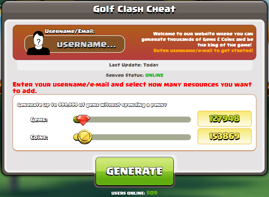 Golf scontro hack