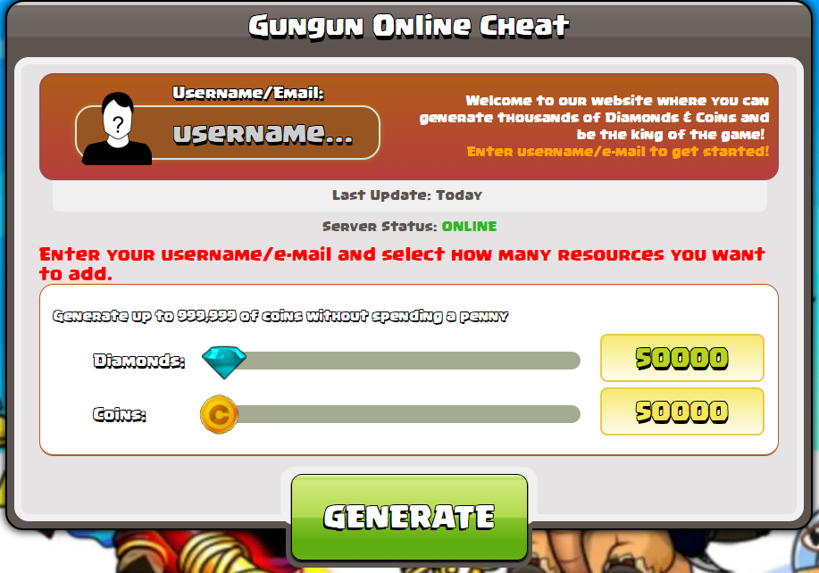 gungun online hack
