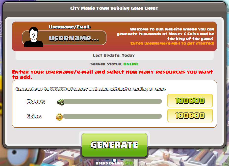 City Mania Town Building Game Hack