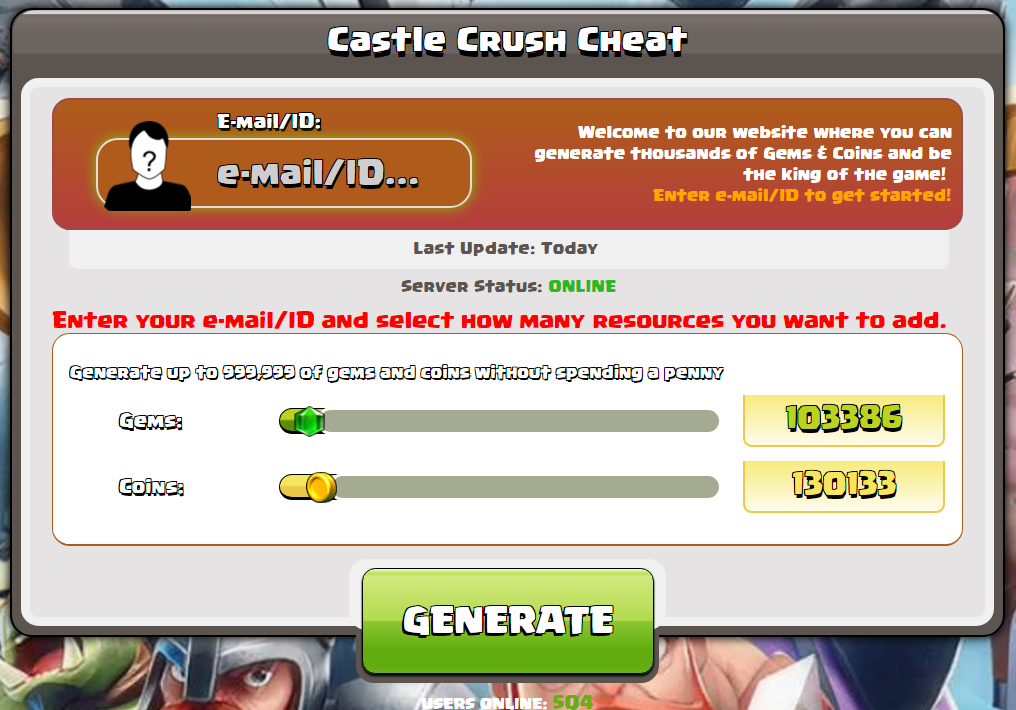 hack de crush Castle