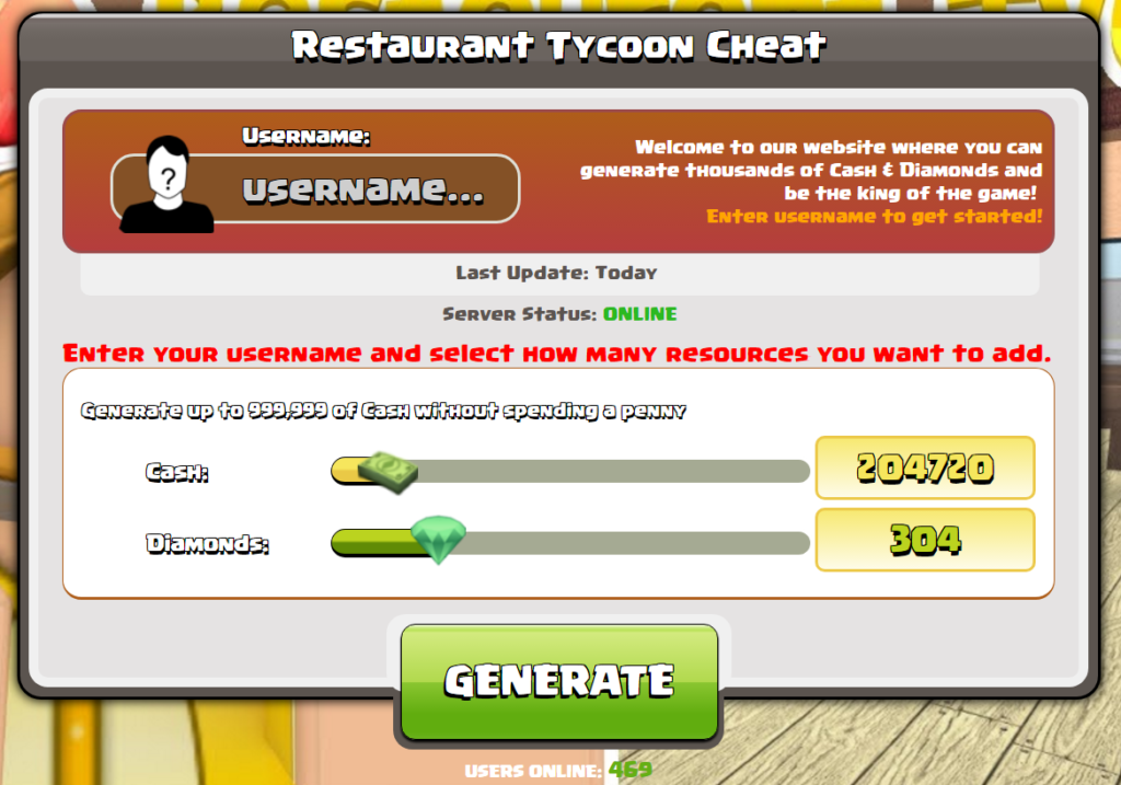 hack tycoon ristorante